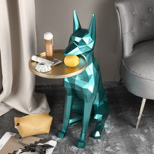 3D Boden hund Kaffee tisch tablett Möbel wohnkultur Tragbare mobile kleine seite tisch ablage kaffee tisch für wohnzimmer zimmer