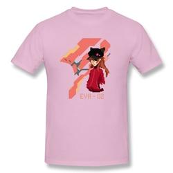 Pixel art Asuka T Shirt popularna męska koszulka z krótkim rękawem męska biała koszulka z nadrukiem evangelion letnie duże koszulki bawełniane bluzki 6