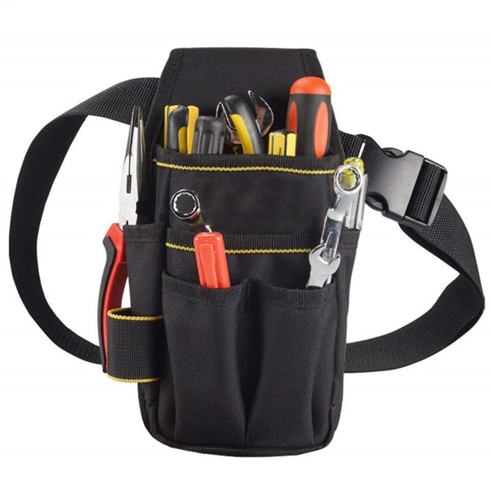Professional Electrician Tool Bag Belt Oxford Cloth Waterproof Tool Belt Holder Kit Pockets Convenient Tool Bag With Waist Belt