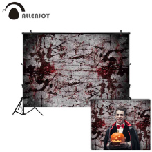 цены Allenjoy background for photo studio blood wall halloween scary backdrop photography photobooth photo shoot prop photocall