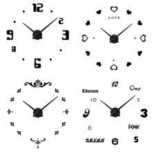 Amazon скандинавские украшения дома креативные настенные часы акриловые славные часы «сделай сам» наклеиваются на стену поколение жира