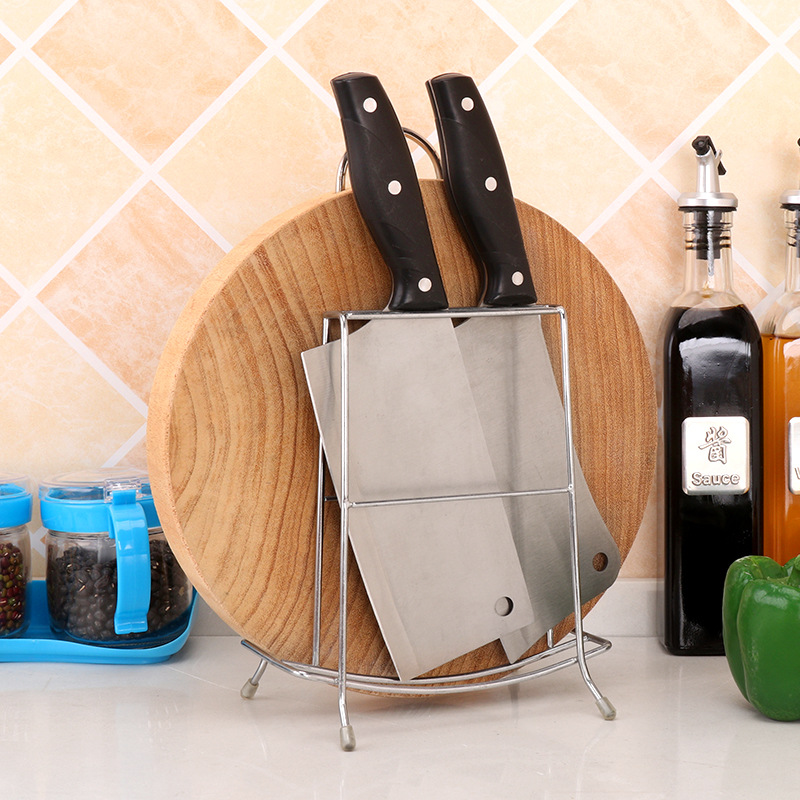 [A Generation Of Fat] Kitchen Simplicity Storage Knife Rest Chopping Block Rack One-piece Stainless Steel Large A Chopping Board