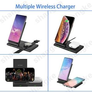 Image 2 - Samsung Galaxy için kablosuz şarj cihazı 42m/ 46mm S2 S3 S4 iPhone Xs X Galaxy S10 S9 s8 cep telefonu kablosuz şarj pedi 10W