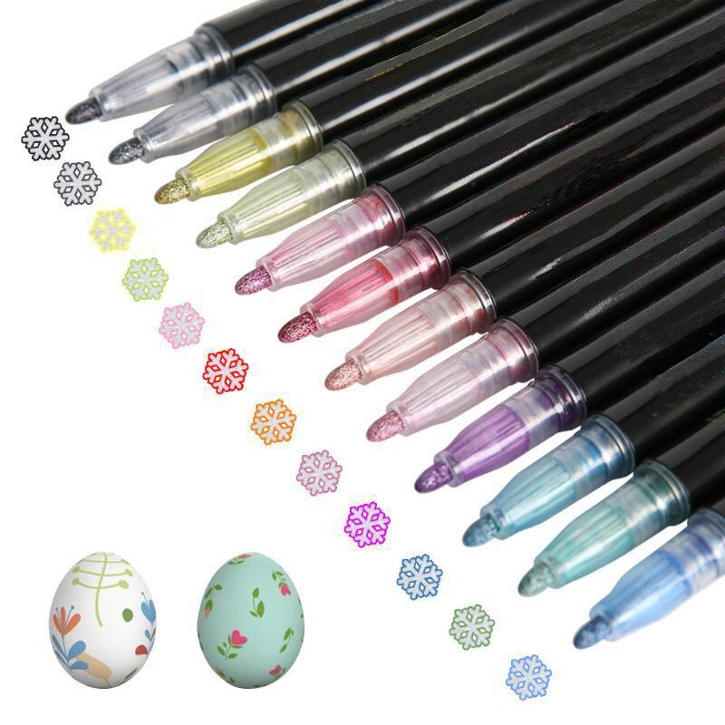 DIY волшебный двойной маркер, фломастер, цветной набор, школьная детская кисть, пастельный флуоресцентный рисунок, рисунок, рождественский п...