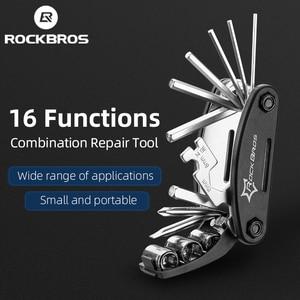 Image 1 - ROCKBROS 16 in 1 Fahrrad Werkzeuge Sets Mountainbike Fahrrad Multi Repair Tool Kit Hex Speichen Schlüssel Berg Zyklus Schraubendreher werkzeug
