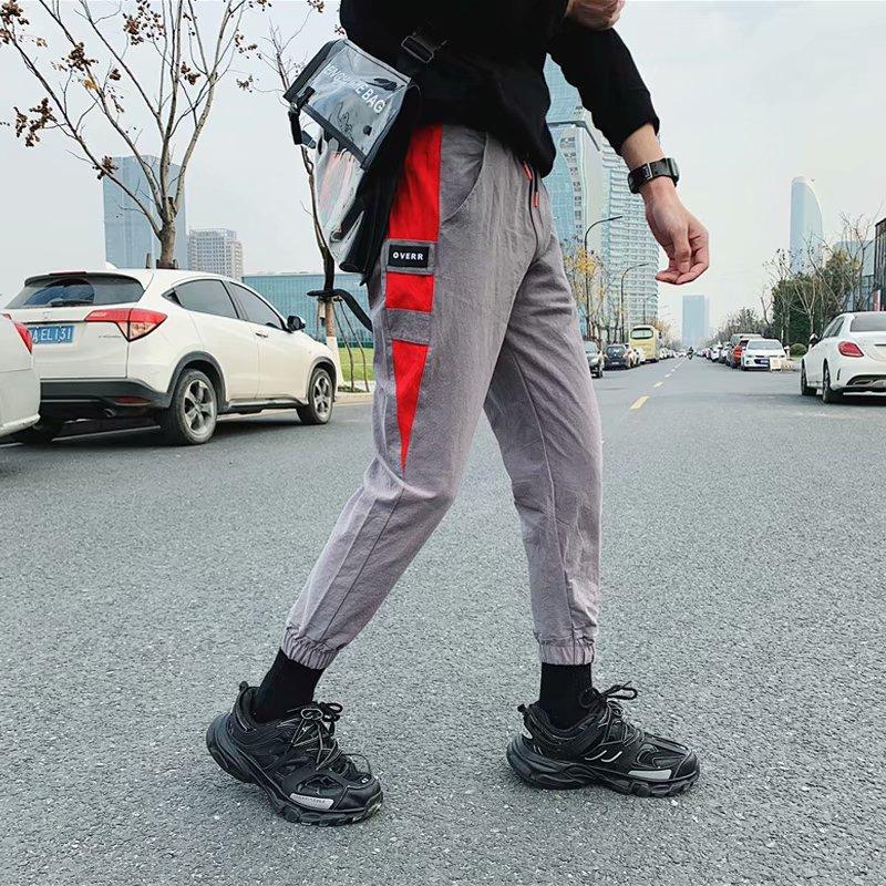 2019 MEN'S Trousers Casual Autumn & Winter Flax Cotton Linen Slim Fit Beam Leg Korean-style Trend Capri Pants Bib Overall