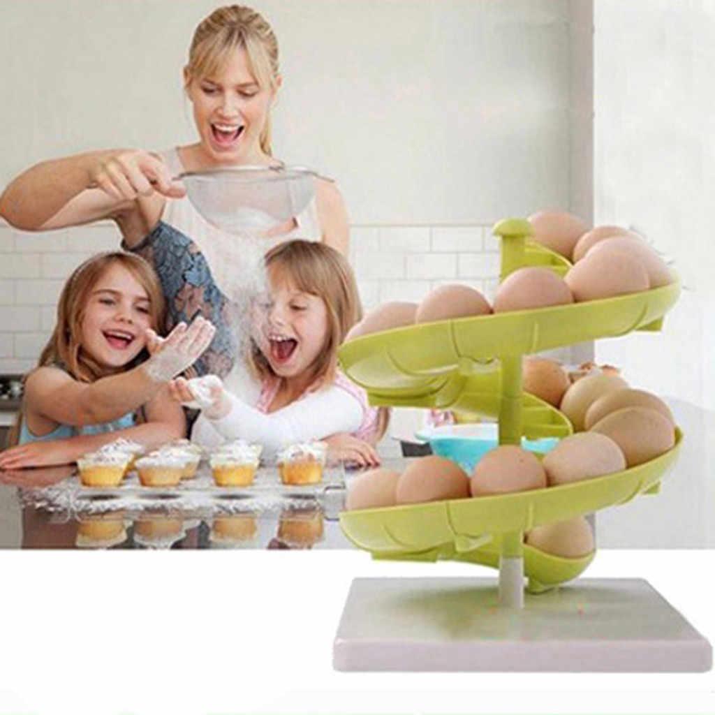 Современная кухня спиральная конструкция яичная полка для хранения яиц популярная домашняя кухонная для хранения кухонные аксессуары K30