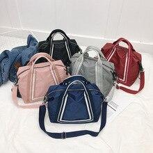 Портативная дорожная сумка для хранения Большая вместительная сумка Простая Дорожная сумка через плечо сумка в Корейском стиле