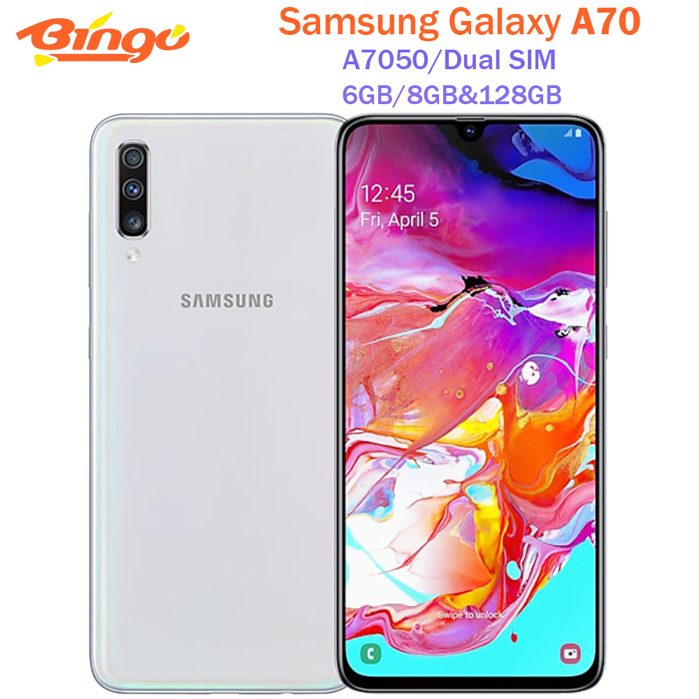 Samsung Galaxy A70 A7050 Dual Sim оригинальный мобильный телефон Octa Core 6,7