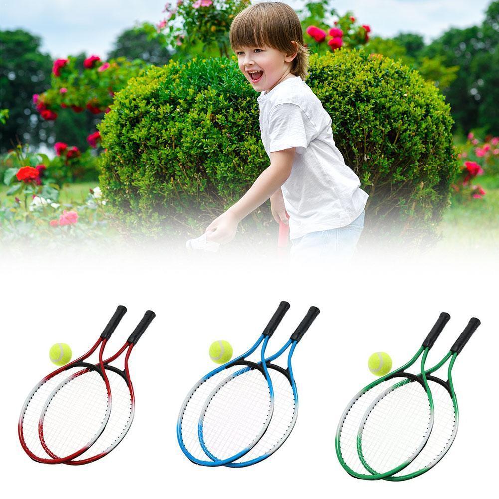 3 Colors Kids Tennis Racket For Training Raquete De Top Tennis Carbon String Free Fiber With Tennis Material Ball Steel Pra P8O3
