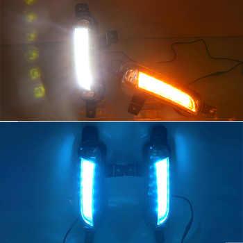CSCSNL 2PCS Car LED Daytime Running Light DRL Fog lamp with yellow Turn Signal For Suzuki Vitara 2015 2016 2017 2018 2019 2020