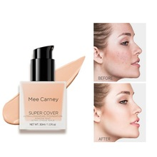 8 Colors Base Face Foundation Cream Concealer Oil-control Easy to Wear Soft Moisturizing Face Makeup Foundation imagic base face liquid foundation cream full coverage concealer oil control easy to wear soft face makeup foundation with puff