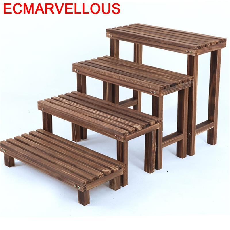 Living Room Soporte Plantas Interior Wooden Shelves For Plantenstandaard Balcony Dekoration Shelf Outdoor Flower Plant Stand