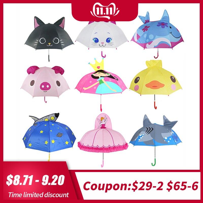 Dessin animé mignon enfants parapluie animation créative à long terme 3D oreille modélisation enfants parapluie pour garçons filles livraison gratuite