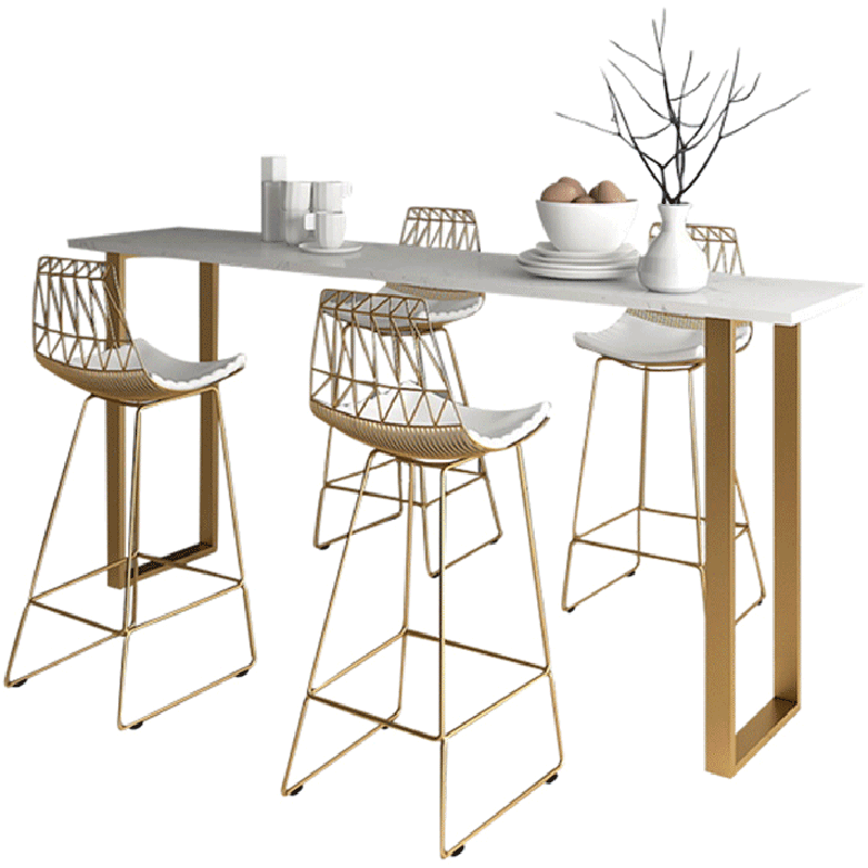Nordic Minimalist Home Against The Wall High Table Bar Chair Coffee Net Red Tea Shop Bar Chair Two For Sale