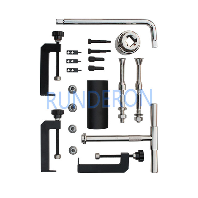 Diesel Service Workshop High Pressure Fuel Injection Pump Disassembly Removel Repair Tools Kit for Bosch Denso CRT CRS