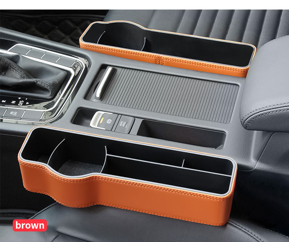 Car Seat Gap Organizer Auto Seat Storage Box Interior Side Pockets for Key sunglasses wallet  Phone Holder