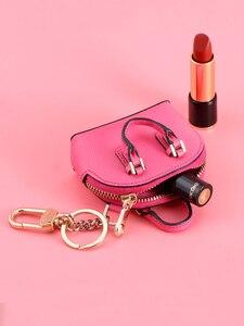 Image 4 - をmilesiファッションバッグペンダント女性キーホルダー女性のハンドバッグアクセサリーかわいいミニチュアハンドバッグためスマート人形mp373