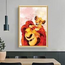 5d pintura diamante animal leão diy quadrado completo/redondo diamante bordado strass arte mosaico decoração de casa imagem