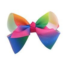Европа и Америка, AliExpress, градиентная заколка-бабочка, радужная детская заколка, цветная заколка утка для волос
