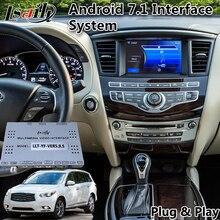 Android 7,1 мультимедийный видео интерфейс для Infinite QX60, gps-навигация для Infiniti JX35/M25/M37/M56