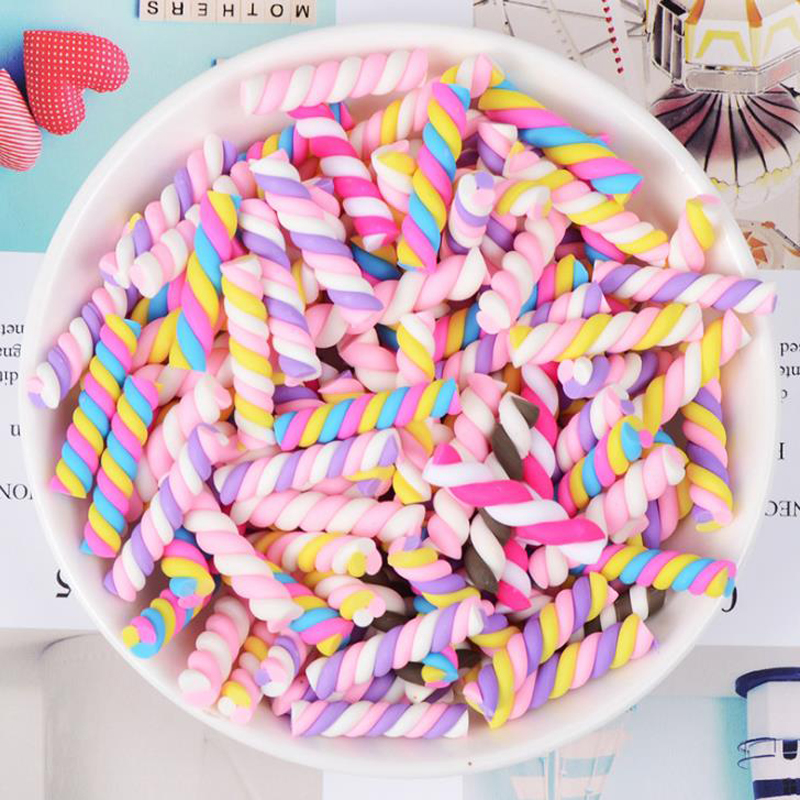 10 ピース/セットミニチュア粘土スワールキャンディー砂糖ポリマークレイカボション装飾 Diy のスクラップブッキングアクセサリーパーティーデコレーション