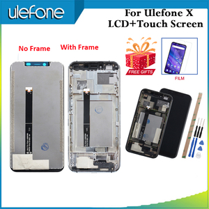 Image 1 - Para Ulefone X pantalla LCD y pantalla táctil + marco piezas de reparación perfectas para Ulefone X accesorio Digital 5,85 pulgadas con película + herramientas