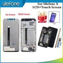 ل Ulefone X شاشة الكريستال السائل وشاشة تعمل باللمس الإطار الكمال إصلاح أجزاء ل Ulefone X الرقمية إكسسوارات 5.85 بوصة مع فيلم + أدوات
