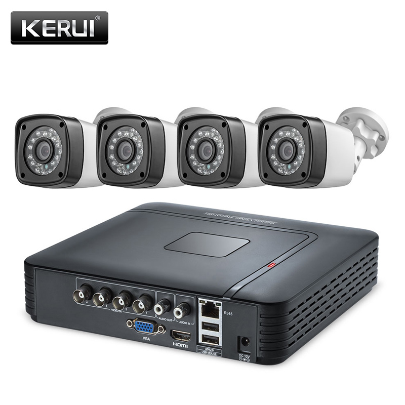 KERUI 1520P 4MP DVR Kit Home Security Camera System Outdoor Waterproof AHD 4CH DVR Kits HDMI CCTV Video Surveillance System Kit