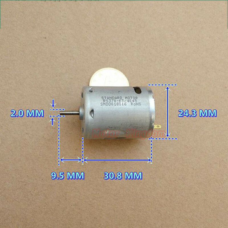 DC 24V 3800RPM Large Torque Long Life Low Current Micro RC370-081000 Mute Motor