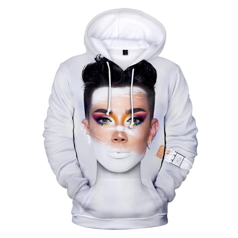James Charles Hoodie Men 3D Print Internet celebrities Harajuku Hooded Adult Kids Long Sleeve casual Hoodies Sweatshirts women