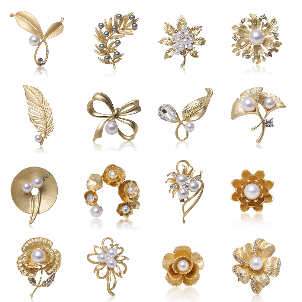 Lakke Fashion Flower Car Cool Metal Brooch Pins Button Pins Jeans Bag Decoration Breastpin