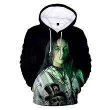 3D Billie Eilish Hoodies Women Men Sweatshirts