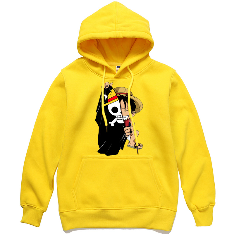 One Piece Luffy Hoodies Men Casual Homme Fleece Pullover Japanese Anime Printed Male Streetwear Clothing Autumn Winter Tops Men