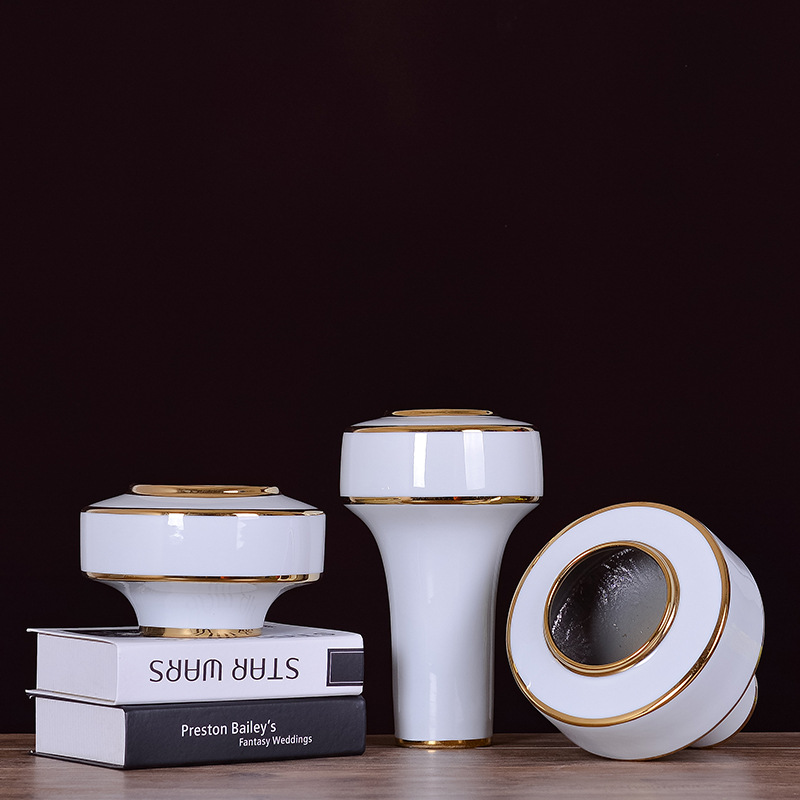 >White Minimalist Modern Nordic <font><b>Style</b></font> Ceramic Vase Flower <font><b>Craftsman</b></font> <font><b>Home</b></font> Decoration Ornaments Nordic Decoration <font><b>Home</b></font>