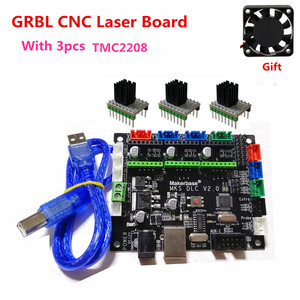Image 5 - GRBL V1.1 expansion plate MKS DLC v2.0 motherboard CNC offline LCD display replace cnc shield v3 UNO R3 CNC 3018 PRO upgrade kit