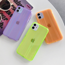 LOVECOM Laser Fluorescent Color Transparent Phone Case For