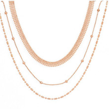 MultilayerNecklace Ladies Necklaces Chain Women Round Pendant Jewelry Yellow Gold Color Classic European Stainless Collares xpayxpay choker trendy necklace chain women yellow gold color bohemia stainless steel necklaces jewelry lovers collares