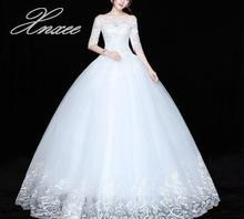 Lace lace dress one-shoulder five-point sleeves slim dress Vestido de novia burgundy one shoulder bat sleeves knitted dress