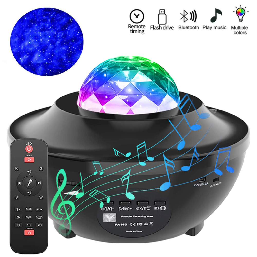 USB LED Galaxy Starry Projector Night Light Star Sky Projection Lamp w// Remote