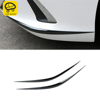CARMANGO for Lexus ES 2018 2019 ES200 ES300 ES260 Car Front Bumper Fender Chrome Cover Trim Frame Sticker Exterior Accessories