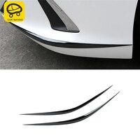 CARMANGO for Lexus ES 2018 2019 ES200 ES300 ES260 Car Front Bumper Fender Chrome Cover Trim Frame Sticker Exterior Accessories