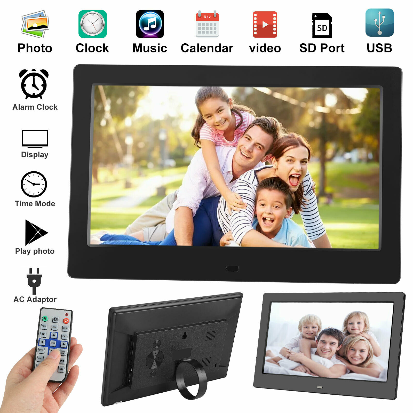 New 10 inch Lcd Widescreen Digital Photo Frame Electronic Picture Video Player Movie Album HD Dispaly Photo Frame Digital