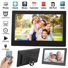 Novo 10 polegada lcd widescreen moldura digital imagem eletrônica vídeo player álbum de filme hd dispaly photo frame digital