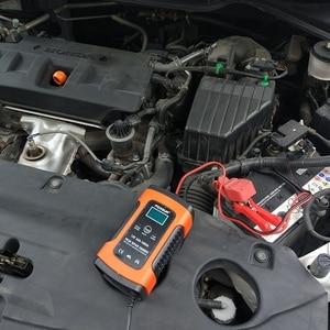 Image 5 - Hot Foxsur 12Vแบตเตอรี่เครื่องชาร์จประเภท12Ah 36Ah 45Ah 60Ah 100Ah Pulse Battery ChargerจอแสดงผลLcd Eu Plug