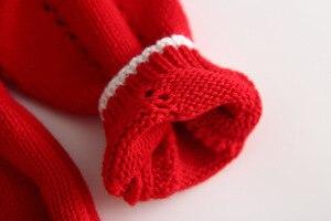 Image 5 - Bebek Tığ Işi Kırmızı Renk Tulum Çocuk Tulum Güzel Kız Çocuk ins Tatlı Yenidoğan Sonbahar Kış Tulum
