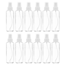 12 Pack Fine Mist Clear Spray Bottles 120 Ml (4 Oz) with Pump Spray Cap, Reusable and Refillable Small Empty Plastic Bottles for 8in1 nm cage cleaner cleansing and deodorizing agent for small animal cells spray 710 ml 5057846