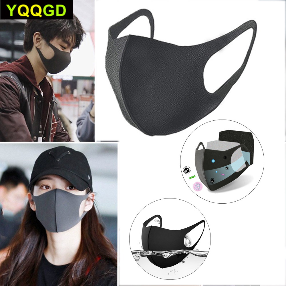 1Pcs Men Women Anti Dust Mask Anti PM2.5 Pollution Face Mouth Respirator Black Breathable Reusable Washable Mouth Cover