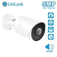 UnilLook 5MP Macchina Fotografica Della Pallottola IP Onvif POE Built-In Microfono Slot Per Scheda SD (opzionale) IR 30m Telecamera di Sicurezza Esterna IP 66 H.265