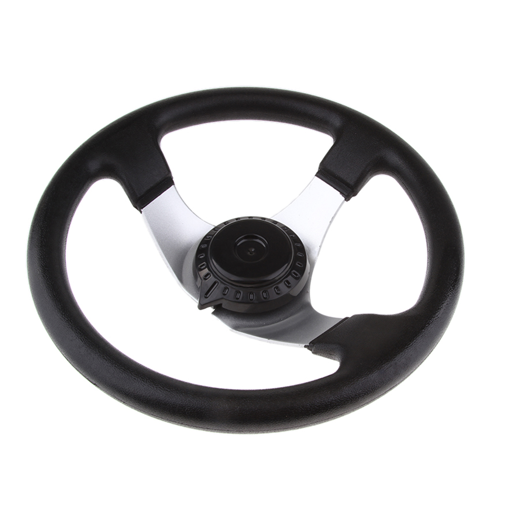 3 Spoke 300mm Steering Wheel For 150-250cc Engine ATV Go Kart Buggy Quad